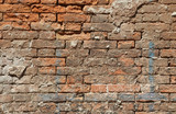 background of red bricks wall