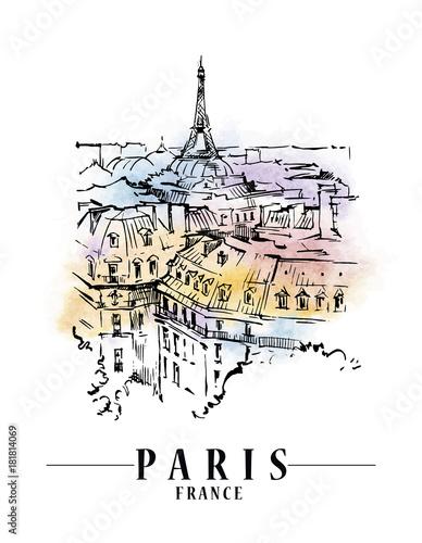 Wall mural Paris vector illustration.