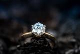 Ring with diamond - 181819887