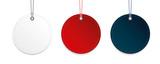 runde etiketten weiß rot blau - 181822212