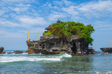 Tanah Lot hindu Temple on water in Bali Island, Indonesia
