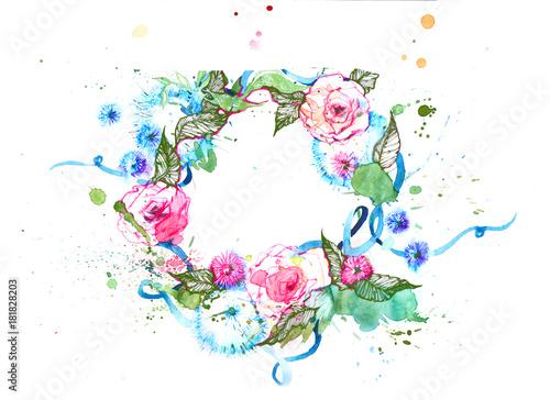 Foto op Aluminium Schilderingen wreath