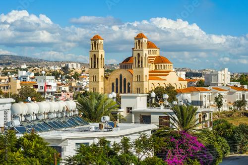 Keuken foto achterwand Cyprus Agioi Anargyroi church in Paphos, Cyprus
