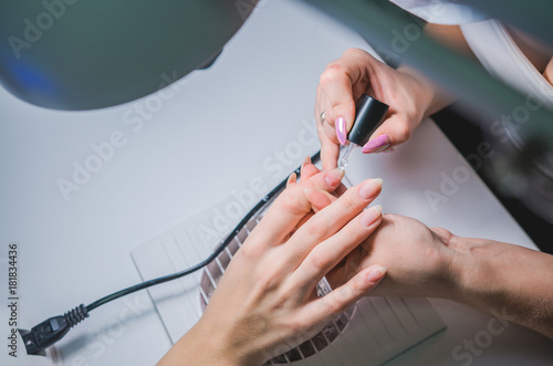 Foto op Plexiglas Manicure Professional manicure procedure. Beauty salon