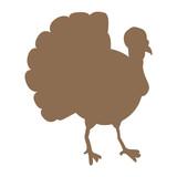 Isolated turkey illustration
