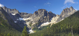 Panorama of Mountains in the Cascades National Park, Washington - 181837824
