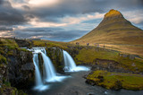 Waterfall with Kirkjufell, Iceland in the background