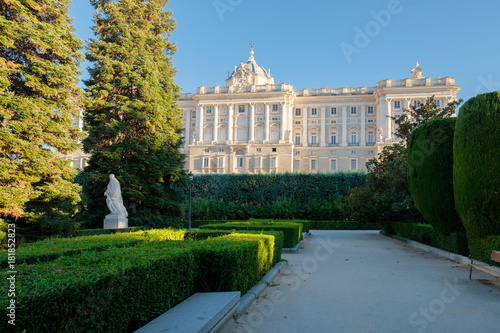 The Royal Palace of Madrid and its gardens