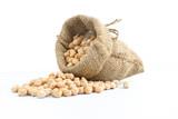 chickpeas on a sack vegetarian food - 181853651