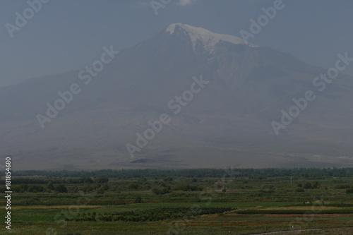 Foto op Canvas Grijs Blick vom Kloster Khor Virap in Armenien auf den Berg Ararat