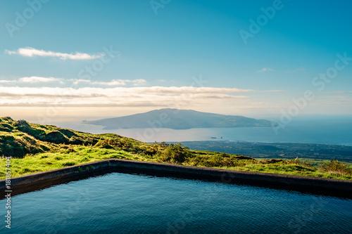 Foto op Canvas Blauwe jeans Faial Island