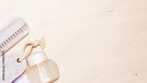 Foto op Aluminium Pedicure Pedicure accessories tools top view