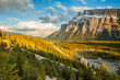 Mount Rundle and the hoodoos in Banff National Park
