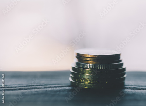Poster Coins On Table