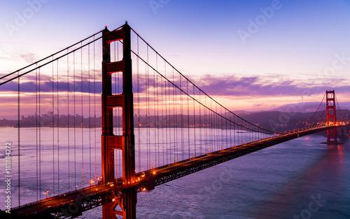 Plexiglas San Francisco Golden Gate at Dawn