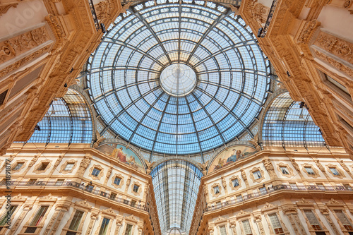 Foto op Canvas Milan Milan, Vittorio Emanuele gallery interior view in a sunny day in Italy