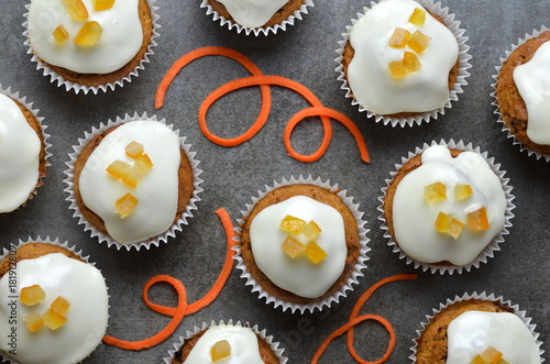 Carrot and Orange Cupcakes Poster