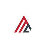 Initial Letter MC Linked Triangle Design Logo - 181917671