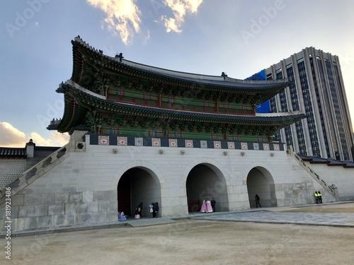 Plexiglas Seoel Gyeongbokgung in Seoul (Südkorea)