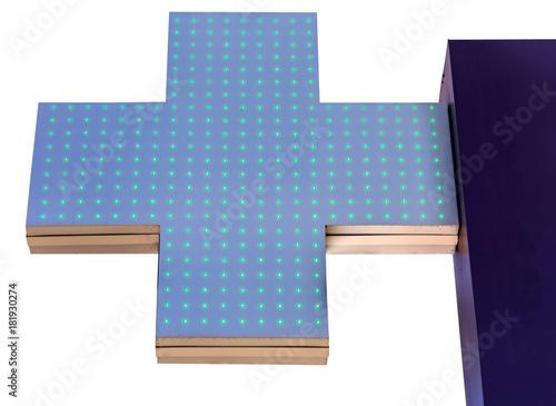 Foto op Plexiglas Apotheek croix verte de pharmacie