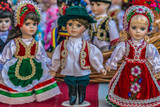 Dolls dressed in traditional Hungarian folk costumes - 181932070