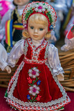 Dolls dressed in traditional Hungarian folk costumes - 181932085