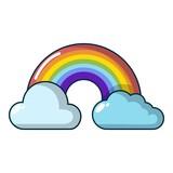 Rainbow icon, cartoon style - 181932683