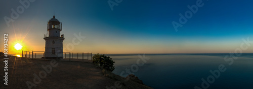 In de dag Nachtblauw Beauty nature sea landscape with beacon
