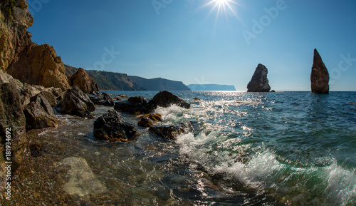 Foto op Canvas Blauwe jeans Beauty nature sea landscape Crimea