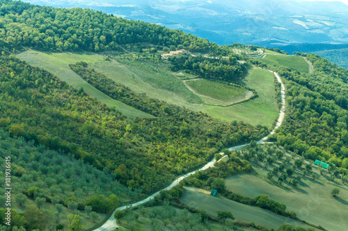 Foto op Canvas Toscane Tuscany hills whith road. Italy