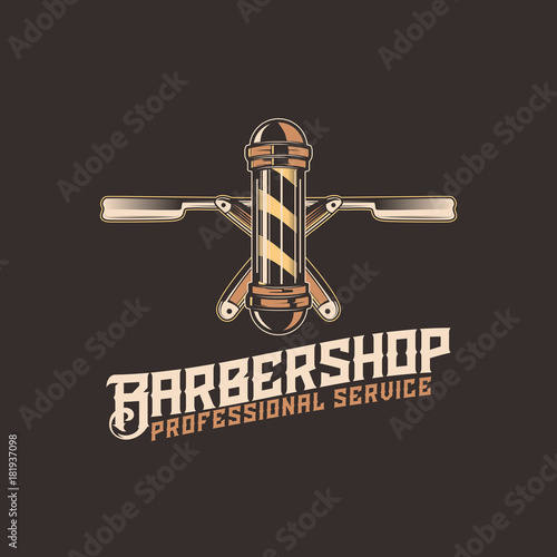 Fototapeta Barber Shop logo