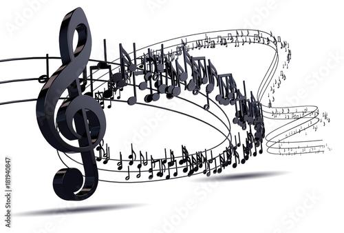 abstrakcja,-pieciolinia,-klucz-wiolinowy,-nuty