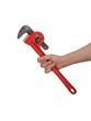 klucz hydrauliczny w dłoni
