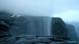 Upsidedown waterfall near famous Trolltunga cliff - 181942230