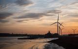 Dusk at the Port of Tilbury, Essex, UK - 181943277