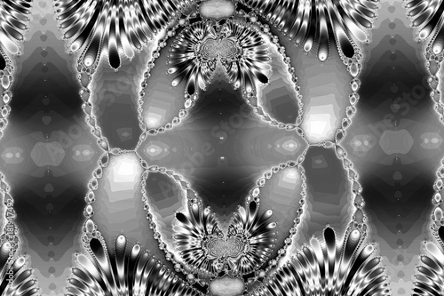 fractal-image-the-intricate-pattern-black-and-white-image