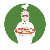 Cook with delicious Pizza  - 181954270
