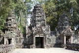 ruins of entrance gate of the temple (12th century), Siem Reap,  Cambodia.north gate Angkor Thom. - 181954635