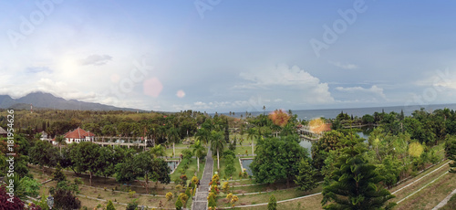 Plexiglas Bali Ujung Water Palace- palace complex in Karangasem, Bali, Indonesia...