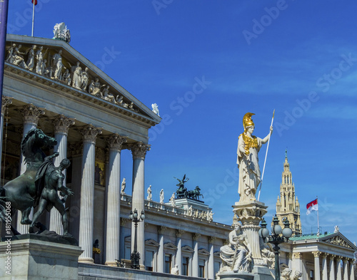Plexiglas Wenen austria, vienna, parliament
