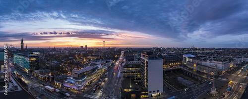 Staande foto Ochtendgloren Sunrise over Tivoli in Copenhagen