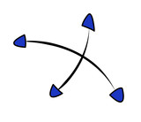 Pfeil in 4 verschiedene Richtungen  - 181958058