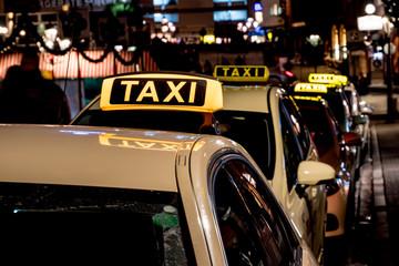 Taxen in einer Großstadt