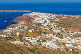 Oia. Aerial view from above. - 181960435