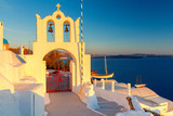 View of the village Oia on the sunset. - 181960441