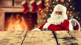 santa claus and desk space  - 181964260