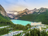 Turquoise Louise Lake in Banff National Park, Alberta, Canada - 181965855
