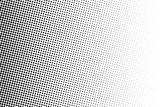 Halftone background. Comic dotted pattern. Pop art style. Backdrop with circles, dots, rounds design element Black, white color.