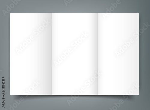 blank tri fold brochure mockup cover template isolated buy photos