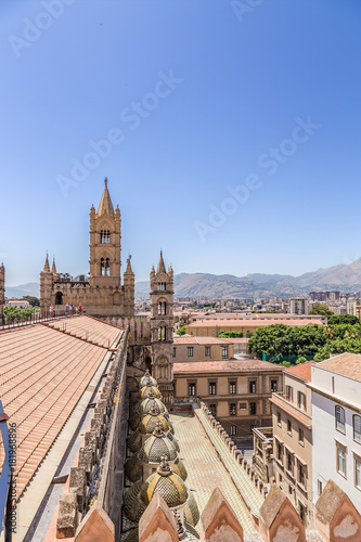 In de dag Palermo Palermo, Italy. View of the Cathedral from top